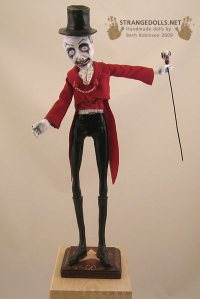 The Ringmaster: Mixed Media, 17 inches tall