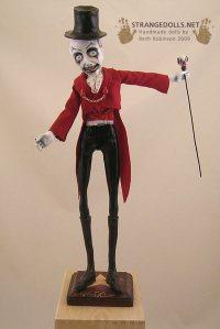 The Ringmaster: Mixed Media, 17 inches tall
