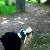 Relaxing in the shade. — at Salem Old Burying Point Cemetery.