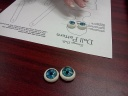 Paula brought these beautiful and made eyes for her doll.