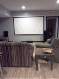 The Man Cave theater area.